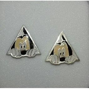 Aretes Disney Mickey Mouse Triangulo Plata 9.25