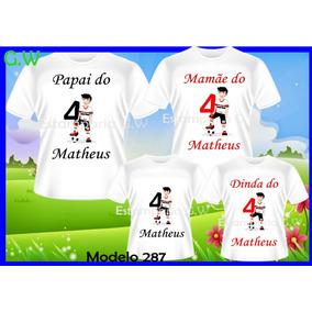 a59efa38a29df Camiseta Aniversario Futebol - Camisetas e Blusas no Mercado Livre ...