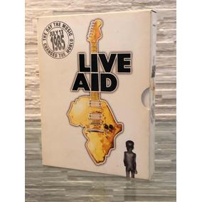 Box 4 Dvds Live Aid 1985 + Livreto Importado