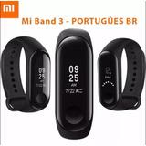 Relogio My Band 3 Xiaomi Smartwatch Para Android Ios - Preto