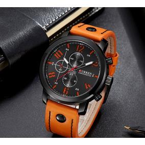 Nuevo Reloj Viser Black Orange!! Elegancia!! Moda Casual!!