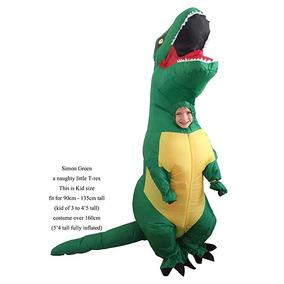 Disfraz Inflable Dinosaurio Jurassic World Verde Niños Gopri