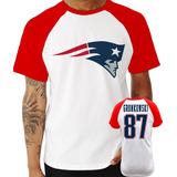 Camisa New England Patriots Gronkowski Vermelha no Mercado Livre Brasil b0937871a6135