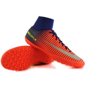 Tacos Nike Mercurial Azul Con Naranja - Tacos y Tenis de Fútbol en ... 2cce076007f9b