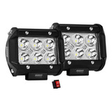 2 Faros Led Osun Alta Intensidad Jeep 4x4 100% Metal + Bases
