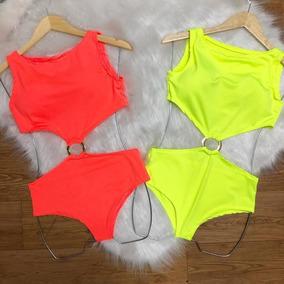 Body Neon Moda Instagram Blogueira Argola Barato Aberto Maio