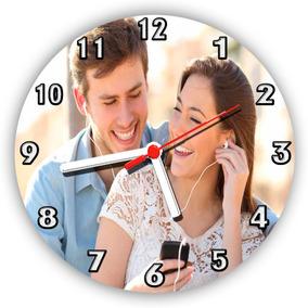 Relógios Parede Personalizados Foto Logo Marca Símbolo 50 Cm