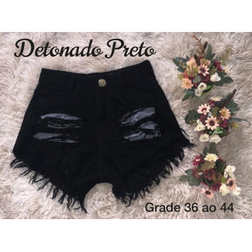 Kit 2 Shorts Jeans Feminino Hot Pant Cintura Alta 34 Ao 44