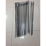 Flechas En Fibra Vidrio, Punta Removible Rosca 12 Unidades