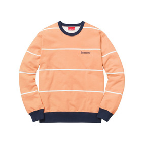 Supreme Striped Crewneck Sweatshirt - Talla M