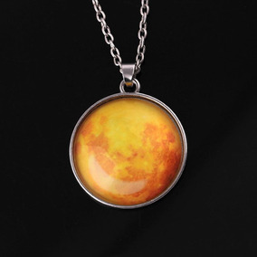 Collar Luna Llena Glow Brilla En La Obscuridad + Envio