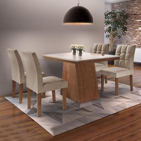 Sala Jantar Sevilha I Tampo Vidro 4 Cadeiras Vitoria Id