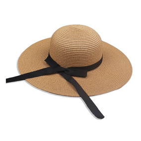 Mujeres  s De Paja Sombrero Nuevo Elegante Mujeres Paja Caqu f7b87738c4a