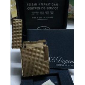 Encendedor Dupont Oro Con Caja, Manuales Y Sello Importacion