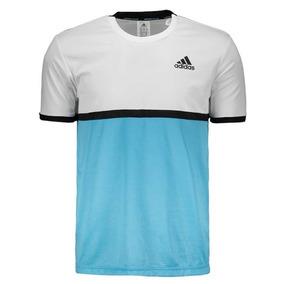 Camisa adidas Court - Branco E Azul 303c15b4a7f