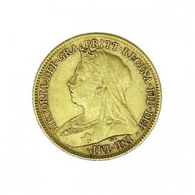 Moeda De Ouro Rainha Victoria 1899