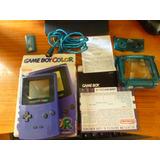 Game Boy Color Con Su Caja Original + Lupa+ Cargador