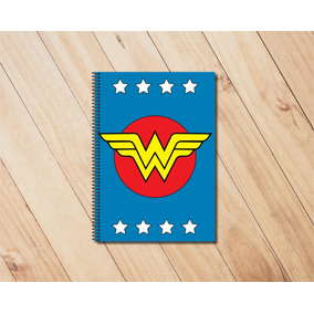 Caderno 200 Folhas Super Heróis Dc - Mulher Maravilha