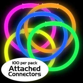100 Pulseras De Cyalume 8 Colores Surtidos Neon Neon Party