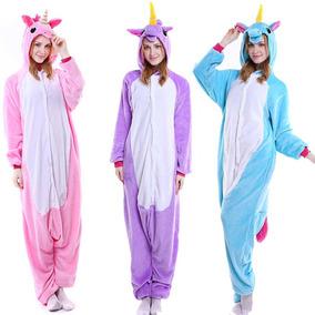 Pijama Unicornio Disfraz Morado Azul Rosa Adulto Env Gratis