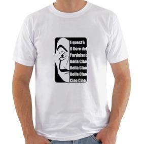 Camisa Camiseta La Casa De Papel - Partigiano Bella Ciao