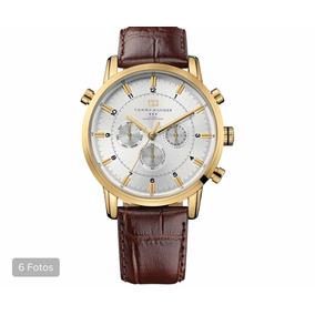 31f958ca024 Relógio Tommy Hilfiger Dourado Couro Marro - Relógios no Mercado ...