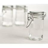 Conjunto De 12 Pequeños Frascos De Vidrio Con Tapas De Vidr