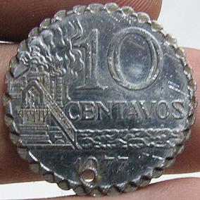 Moeda Antiga 10 Centavos 1977 Brasil