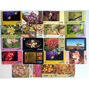 Lote 19 Cartões Telefonicos Olhar Cerrado Flores Ctbc Usado