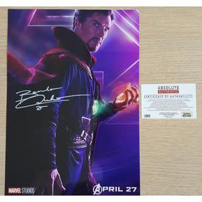 Doutor Estranho Vingadores Poster Autografado