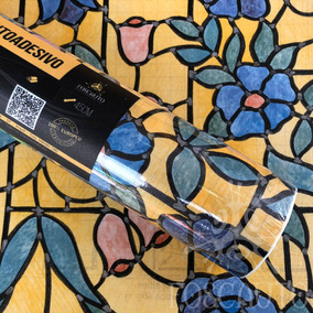 Papel Contact Parede Em Adesivo Importado 3d Arabesco Floral