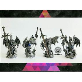 4 Dragones Con Espadas De Acero Inoxidable - Envío Gratis