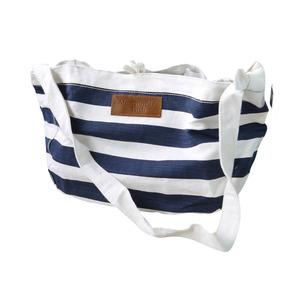 Bolsa Abercrombie 100% Original Branca E Azul Listrada