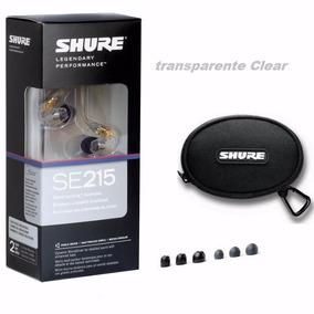 Fone Ouvido Monitor Palco Retorno Shure Se215 Transparente