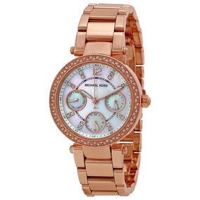 Relógio Michael Kors Parker Rose Mk5616 Feminino Original
