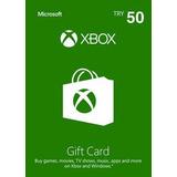 Tarjetas Xbox $50 Gif Card Usa