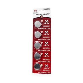 Bateria De Litio Mox Cr 2032 - Cartela Com 5 Unidades