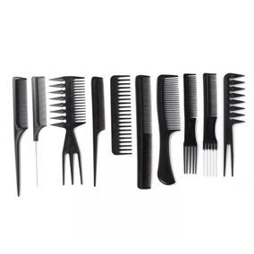 Kit 10 Pentes De Corte Cabeleireiro Barbeiro Profissional