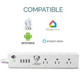 Multicontacto Usb Wifi Apagador Inteligente X Internet 15ah