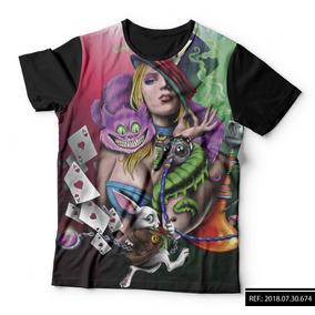 Camiseta Alice Nos Pais Das Maravilhas Camisetas Manga Curta No