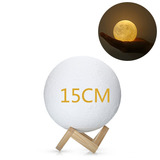 15cm Lámpara De Luna Diseño 3d Ue3d Recargable Táctil Decora