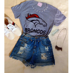 Blusa Baby Look Feminina Denver Broncos Nfi-mega Promoção c1d3f7fa1e8