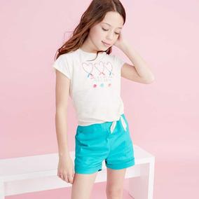 Conjunto Pink Para Niña Blusa Y Short Verde 820550 Kids 19c