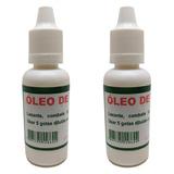 02 Oleo De Mamona 20ml Original Excelente Para O Cabelo