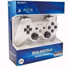 Controle Dualshock 3 Wireless Branco Ps3 Novo Lacrado