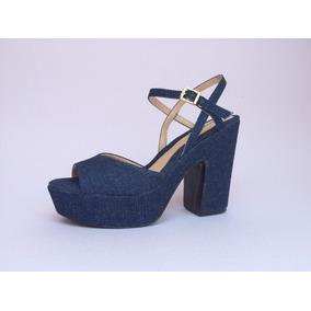 Sandalia Jeans Plataforma Azaleia Numeração Especial 39