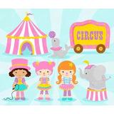 Kit Imprimible Modificable Circo Nena Fiesta 3x1