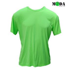 7e81b5e39a2fb Camiseta Dry Fit 100% Poliamida Verde Limão - P