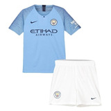Conjunto Oficial Manchester City 2018 Novo Mega Saldão Corra b6c33db52ea4b