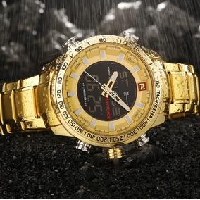 Relógio Masculino Original Naviforce Frete Grátis Dourado